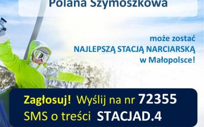 """Stacja narciarska Szymoszkowa nominowana do nagrody """"Najlepsza Duża Stacja Narciarska Małopolski 2016/2017″!"""