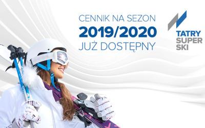 Cennik na sezon zimowy 2019/2020 jest już dostępny!