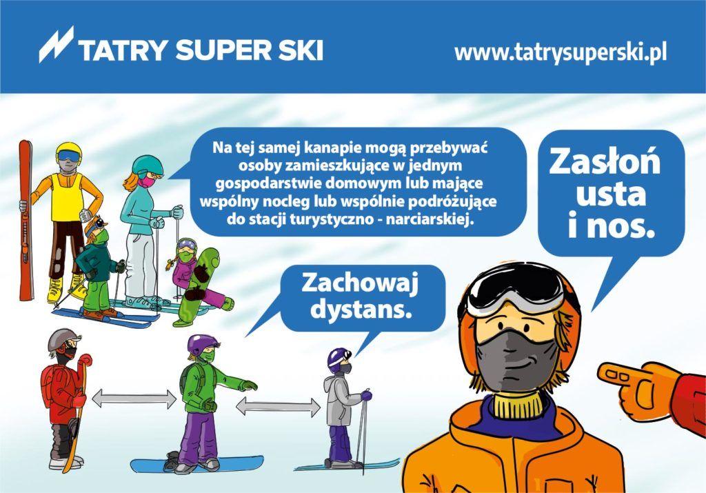 Tatry Super Ski - wytyczne COVID dlastacji narciarskich